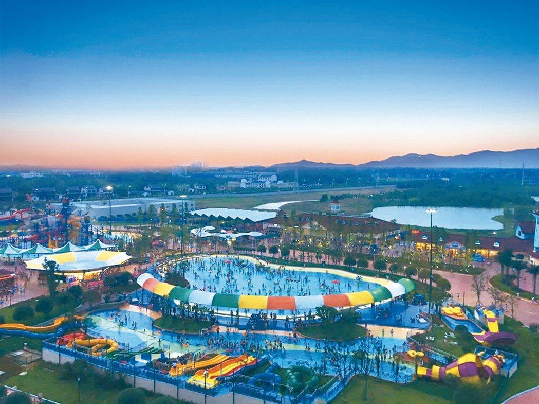雲夢方舟國際度假區,以花園水鄉為概念的主題公園。 圖/本報湖南益陽傳真