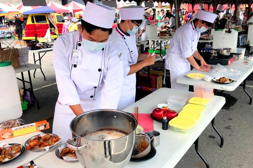 中國科大觀管系學生團隊於現場競賽實際操作情形。 校方/提供