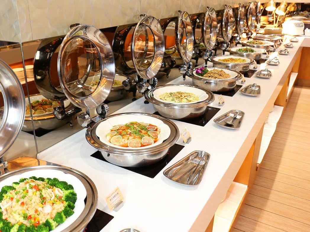台南富信大飯店的豐富自助式早餐。  富信大飯店 提供