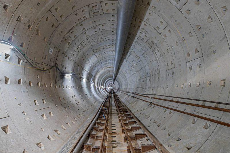 捷運萬大線植物園站的潛盾隧道現已完工,但捷運通車後就無法看到。圖/北市捷運局提供