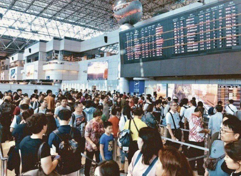 桃園國際機場示意圖。聯合報系資料照