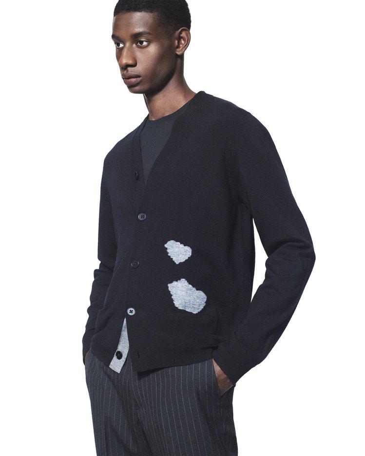 +J美麗諾混紡V領開襟外套1,490元。圖/UNIQLO提供