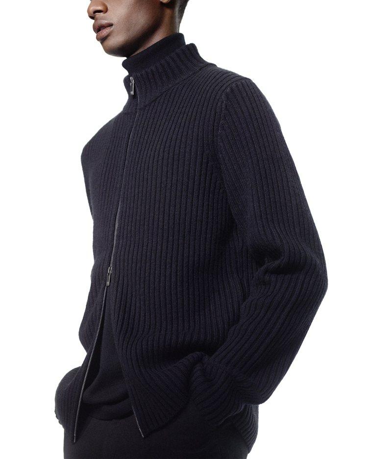 +J羅紋針織外套2,490元。圖/UNIQLO提供