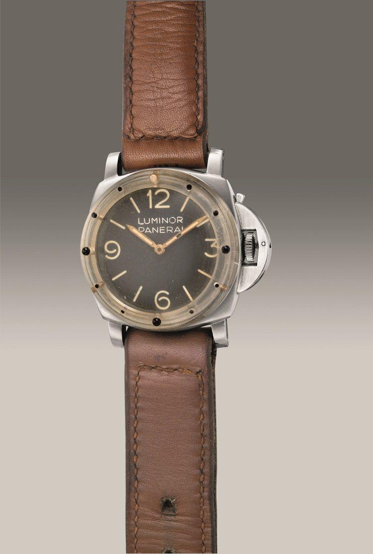 沛納海Luminor型號6152-1骨董精鋼腕表,備早期原型塑膠表圈、勞力士機芯...