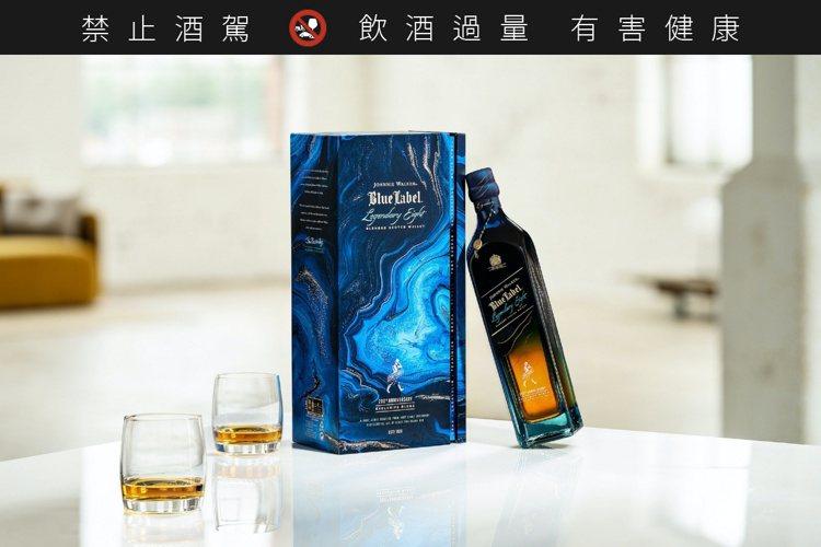 藍牌絕世8藝限定版,酒精濃度43.8%,建議售價9,000元。圖/JOHNNIE...