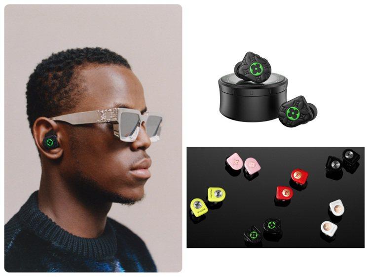路易威登推出全新款霧黑色搭襯霓虹綠無線耳機。圖/LV提供