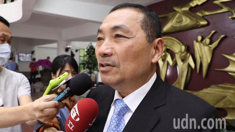 新北市長侯友宜今前往議會接受市政總質詢。記者吳亮賢/攝影