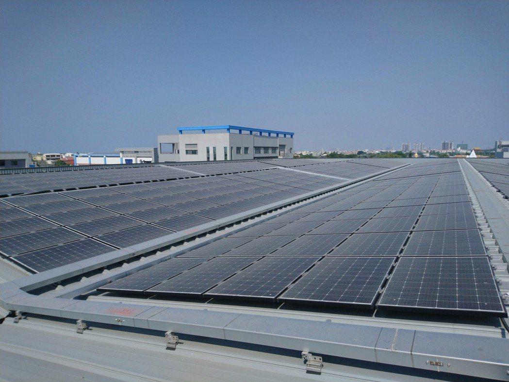 高雄市政府鼓勵屋頂種電,也推「太陽能綠色融資」幫助住家、系統商建置。圖/高雄市經...
