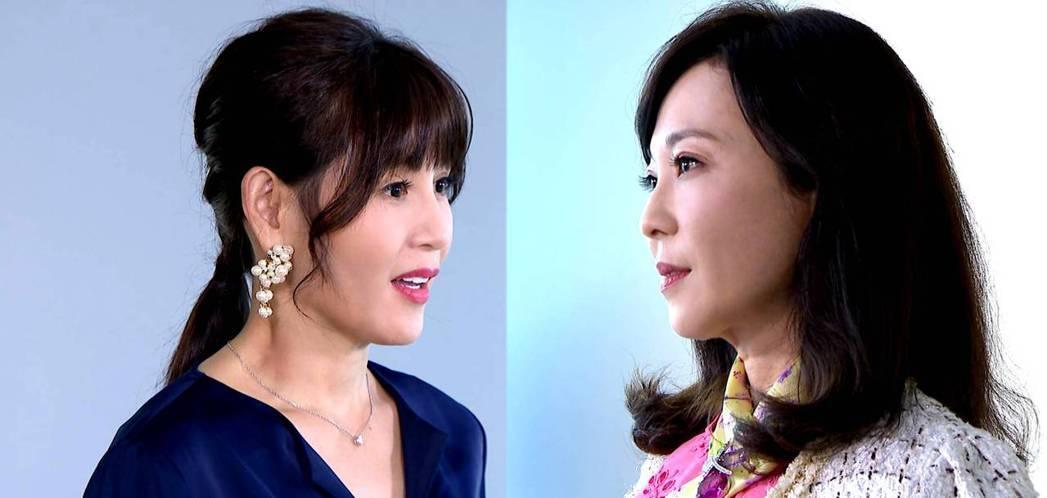 鄭仲茵(左)和況明潔上演女人的對決。圖/三立提供