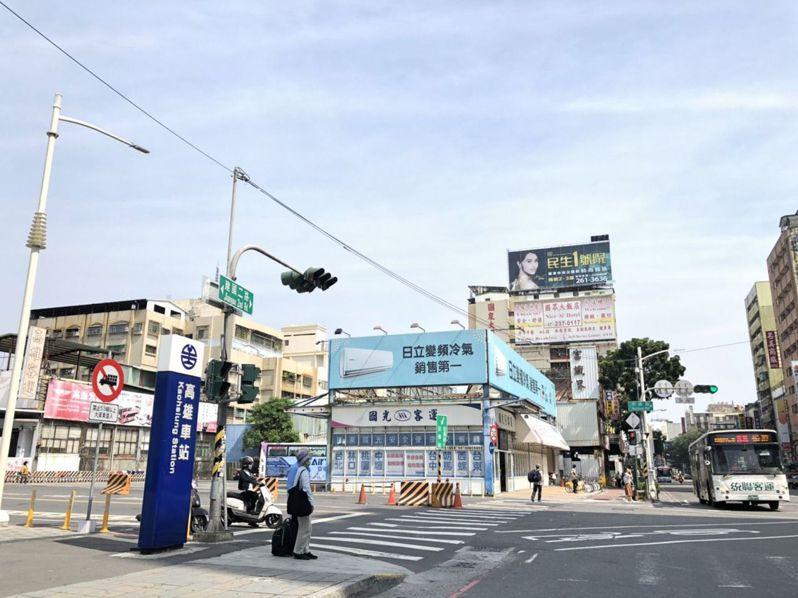 高雄車站周邊。記者王慧瑛/攝影