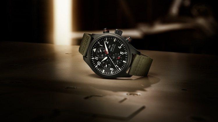 IWC,飛行員系列TOP GUN海軍空戰部隊計時腕表「SFTI」特別版,黑色陶瓷...