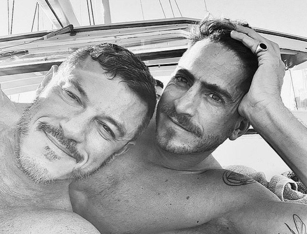 路克伊凡斯(左)與拉法以往都不介意發布彼此的親密照。圖/摘自Instagram