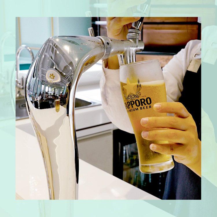 現拉的啤酒,也是Sapporo品牌專門店的特色之一。圖 / 翻攝自Sapporo...