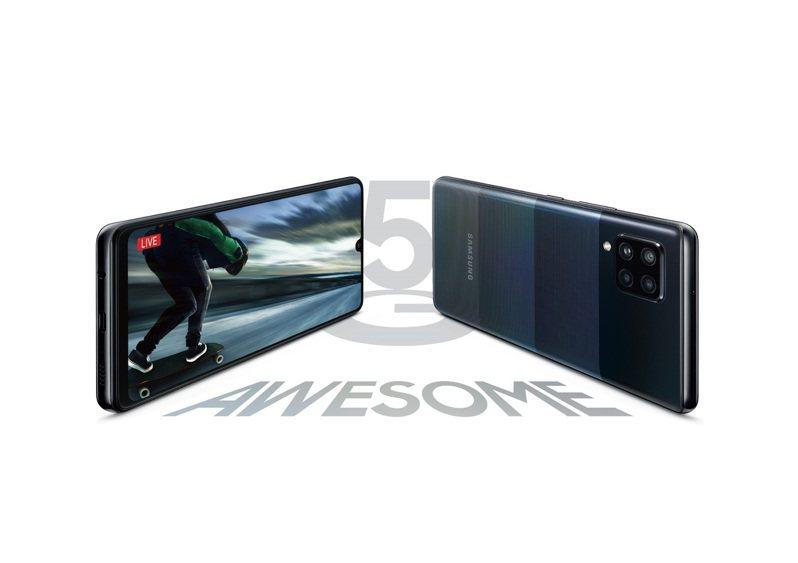 Samsung Galaxy A42 5G支援台灣5G全頻段,預計11月上旬正式在台上市。圖/三星提供