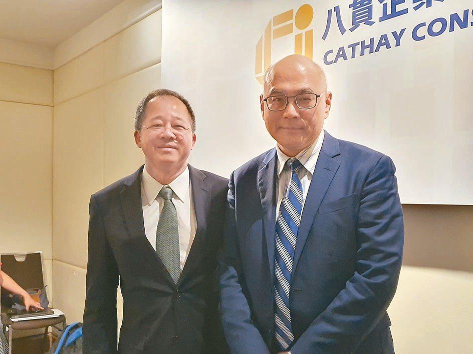 八貫董事長劉宗熹(左)與副總李宏毅。記者曾仁凱/攝影