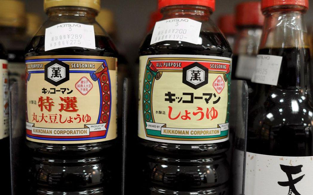 日本龜甲萬醬油。(歐新社)