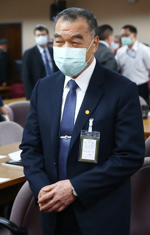 國安局長邱國正上午在立法院備詢前表示,台海最近確實滿緊張,但我方會嚴密注意,國人也不要緊張。記者陳正興/攝影