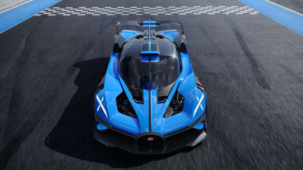 Bugatti Bolide經模擬後也能在5分23秒1跑完紐柏林。 圖/Buga...