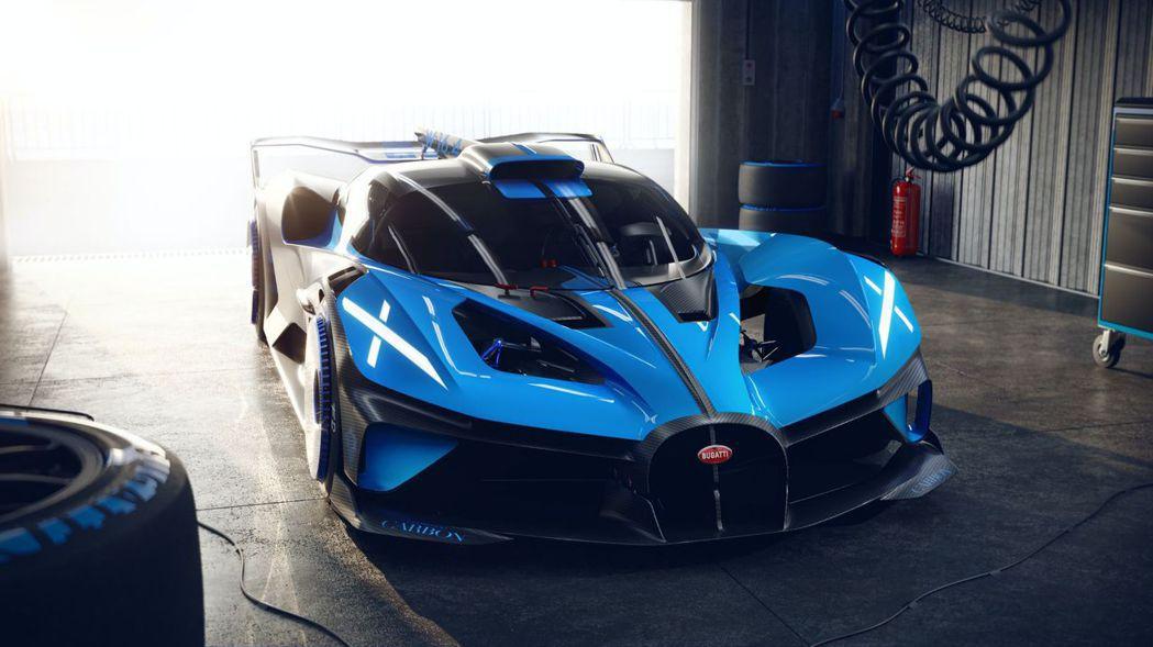 Bugatti Bolide其整車重量僅有1,240kg。 圖/Bugatti提...
