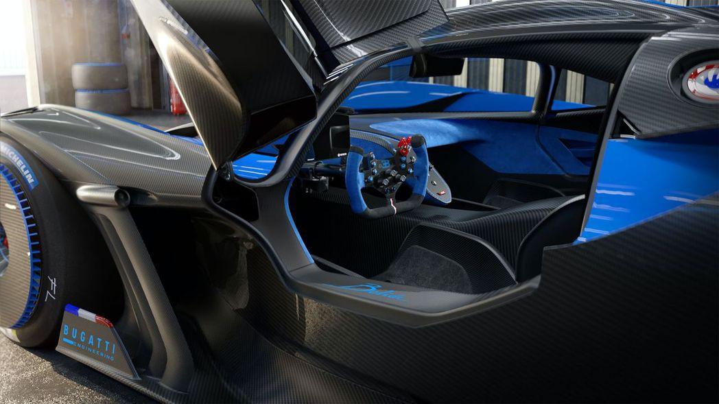 Bugatti Bolide單體碳纖維座艙。 圖/Bugatti提供