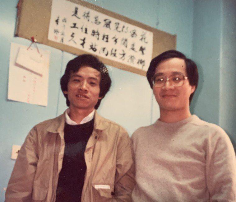 ▲小野(右)與吳念真(左)於1980年前後分別進入中央電影公司任職。(圖/小野提...