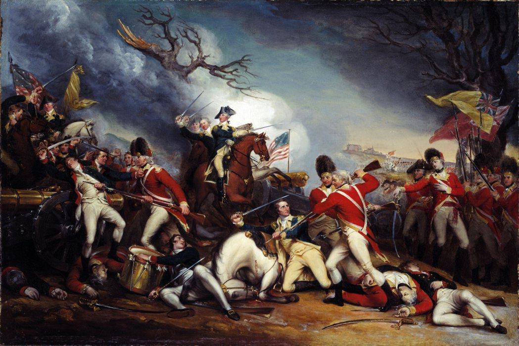 圖為〈梅沙將軍於普林斯頓戰死〉(The Death of General Mer...