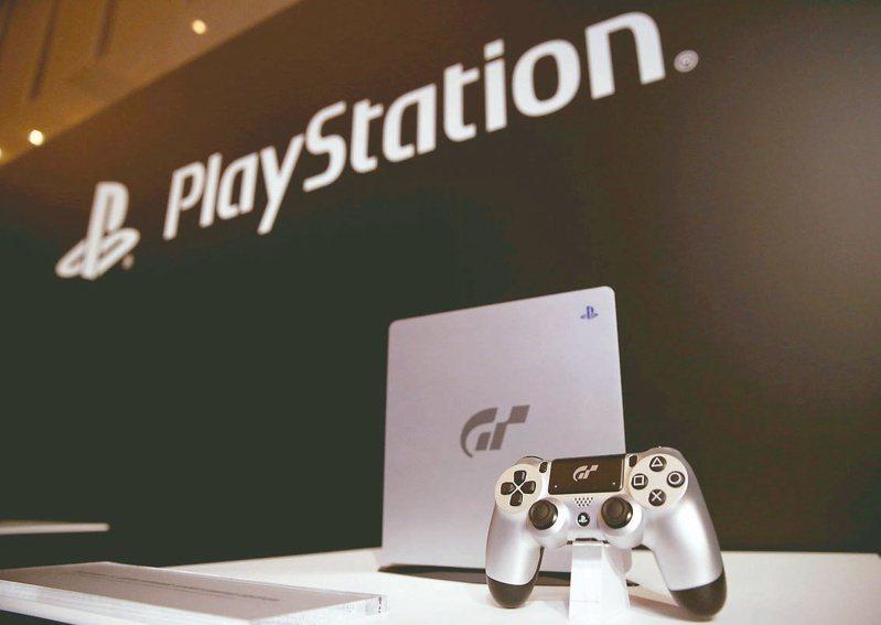 圖為索尼新款遊戲機PS 5。(路透)
