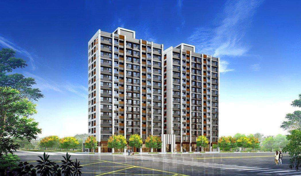 坐落八里正核心的合嘉快意人生,為台北港重劃區的指標新建案。 業者/提供