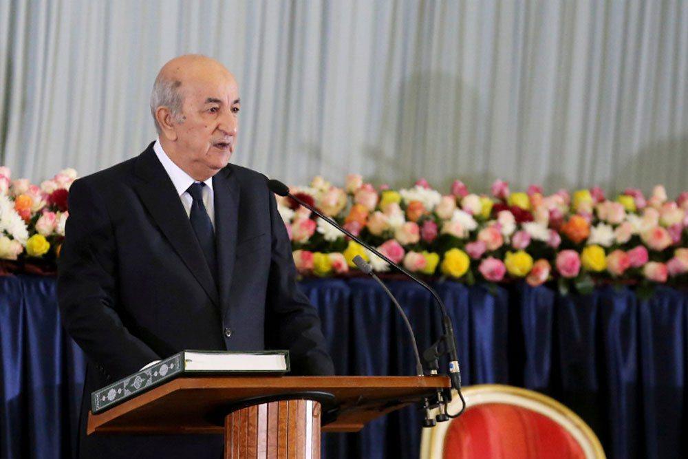 阿爾及利亞總統塔布納。 路透社