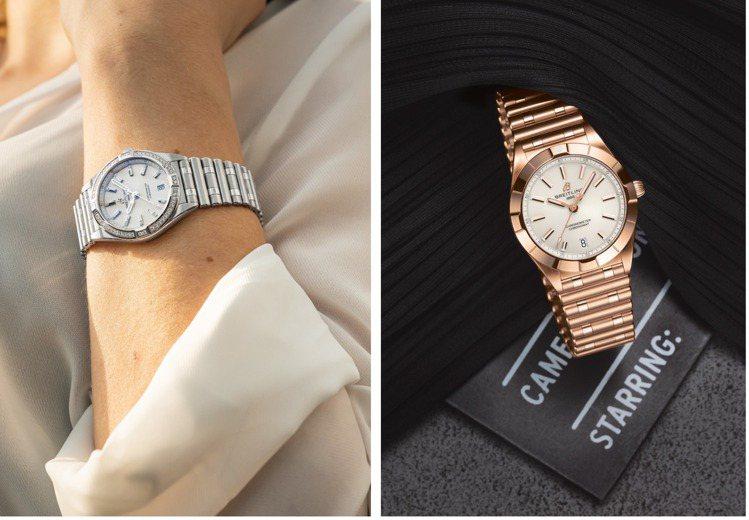 具有精鋼、雙色半金、玫瑰金多種選擇的Chromomat腕表,兼具復古優雅與當代摩...