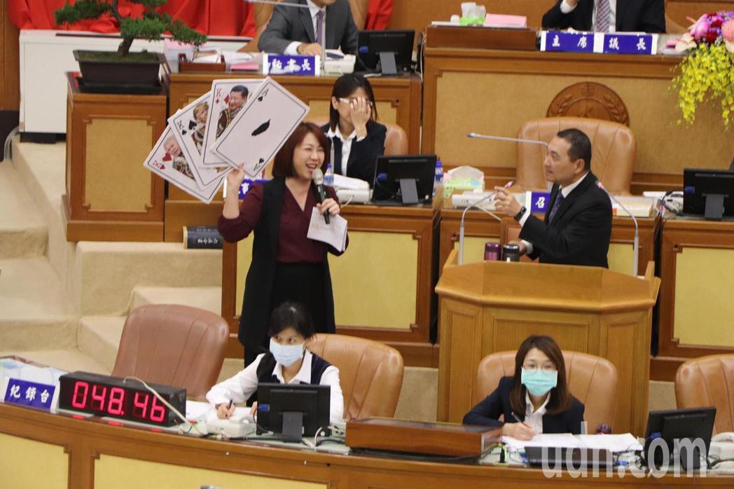 新北市長侯友宜今接受市政總質詢。記者吳亮賢/攝影