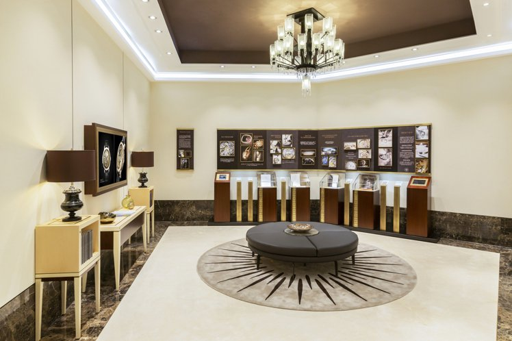 高登鐘表百達翡麗台北101專賣店品牌故事展覽廳。圖/高登鐘表提供