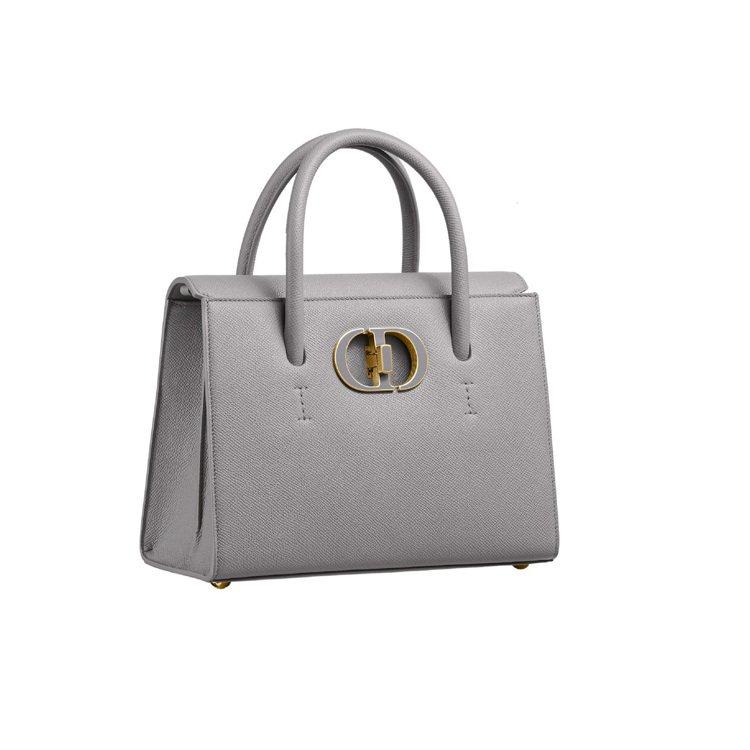 Dior St Honoré石灰色粒紋小牛皮中型手提包,13萬5,000元。圖/...