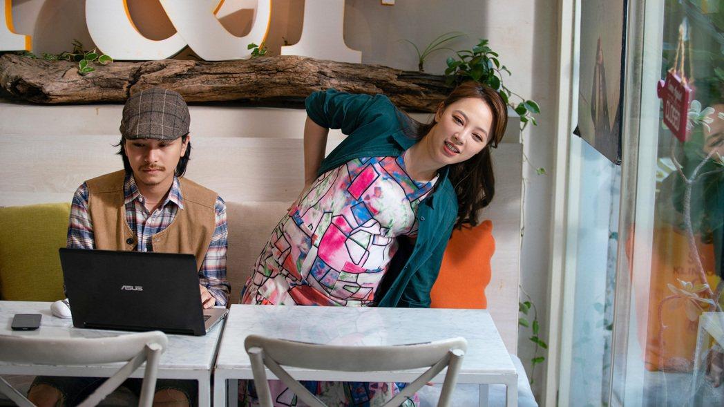 「勇兔」林筳諭(右)在「我的婆婆怎麼那麼可愛」結局中懷孕大腹便便。圖/公視提供