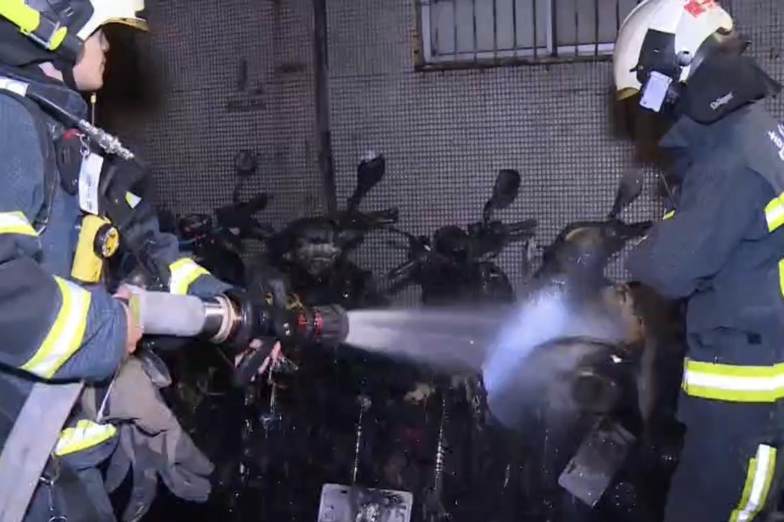 大安區凌晨6輛機車遭縱火 竟是台大研究生好玩點火