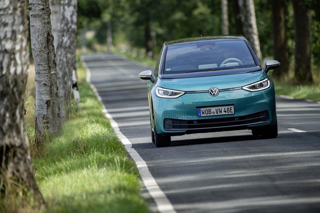 全新Volkswagen ID.3純電動車。 摘自Volkswagen