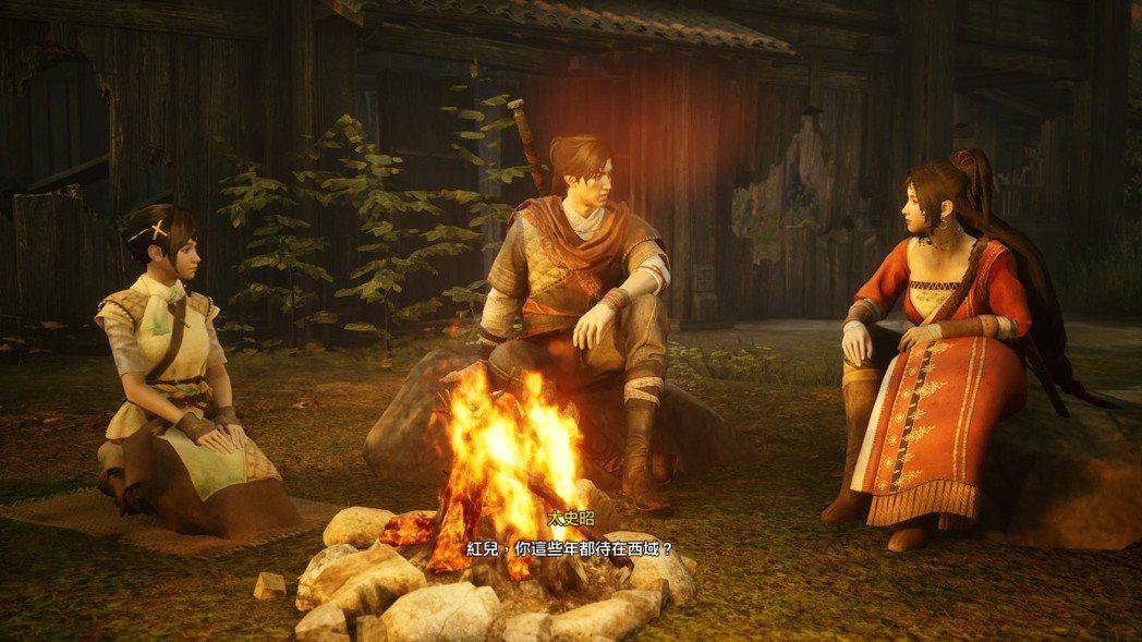 遊戲中每次在營地休憩時,一行人都會說些小故事,值得觀看一下。