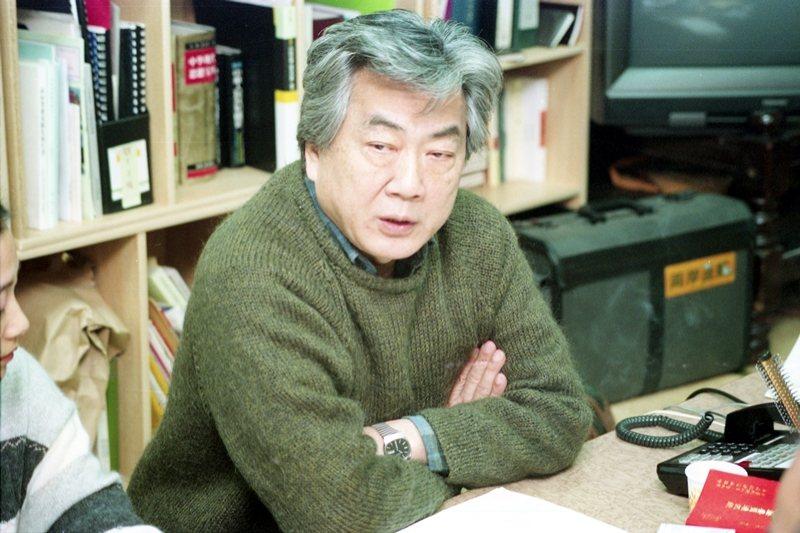 1960年代末《文學季刊》雜誌的精神領袖陳映真,圖攝於1994年。 圖/聯合報系資料照