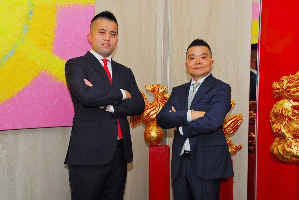 允強實業董事長張金鈺(右)、企業第三代總經理室經理張博凱。 允強實業/提供
