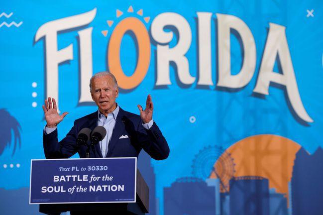 拜登29日在佛羅里達州造勢。路透