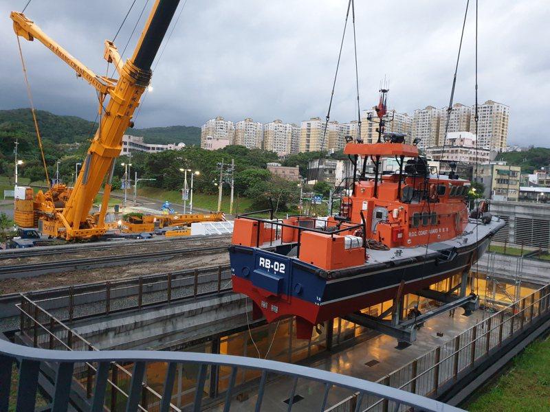 海中不倒翁搜救艇除役進海科館,海洋職涯探索基地啟用。圖/海科館提供
