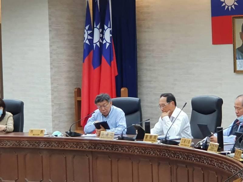 台北市長柯文哲上午主持交通會報。記者楊正海/攝影