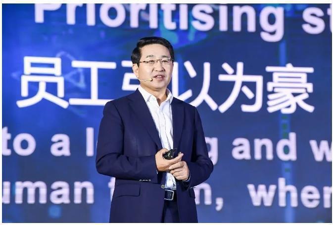 紫光集團聯席總裁兼新華三CEO于英濤。(取自新華三官網)
