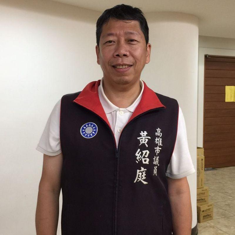 高雄市議員黃紹庭追問高雄市長陳其邁有關把關萊豬的問題。記者楊濡嘉/攝影