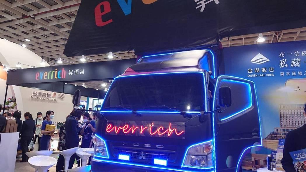 全台最大免稅商昇恆昌把「變形金剛」藝術卡車開進旅展現場。記者黃淑惠/攝