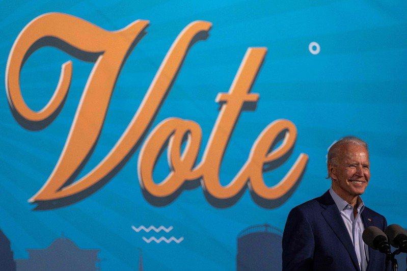 美國總統候選人拜登29日在佛州造勢並呼籲選民投票。法新社