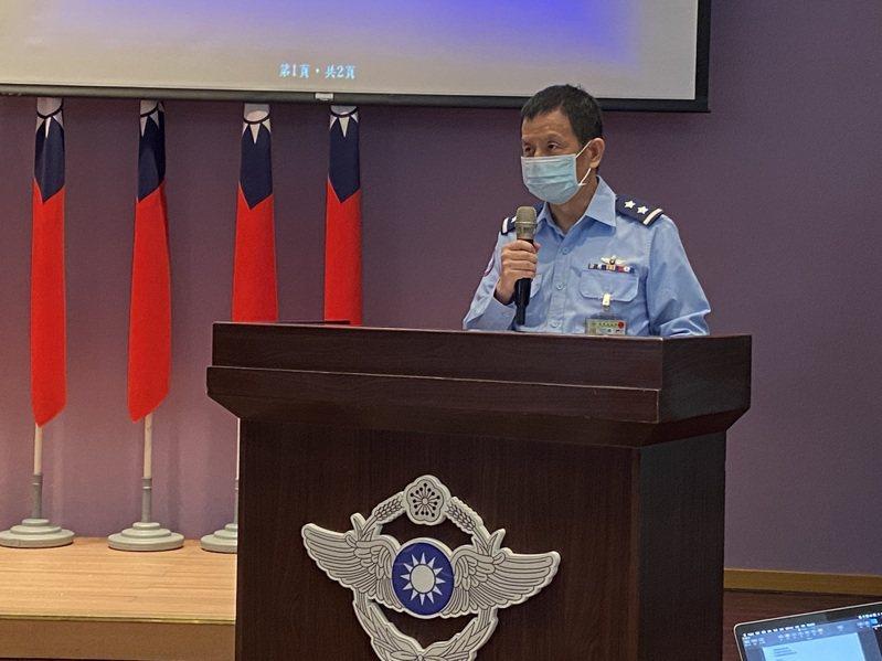 空軍參謀長黃志偉中將。記者蔡晉宇/攝影