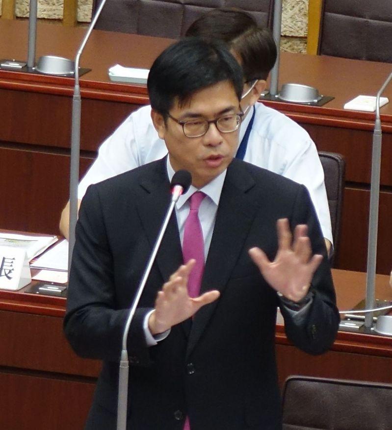 高雄市長陳其邁強調明年元月之後會加強肉品的溯源、落實標示和檢驗。記者楊濡嘉/攝影