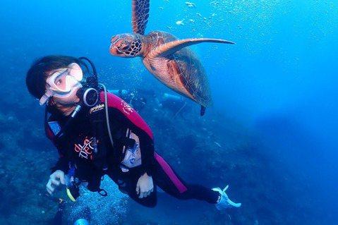 郭書瑤(瑤瑤)上周到小琉球旅行充電,熱愛水上運動的她把握機會下海潛水卻「包緊緊」,全因愛護海洋。瑤瑤潛水時意外與人氣海龜奇妙相遇,她少女心噴發:「人生很希望可以跟海龜共遊,這次在小琉球終於達成這個心...