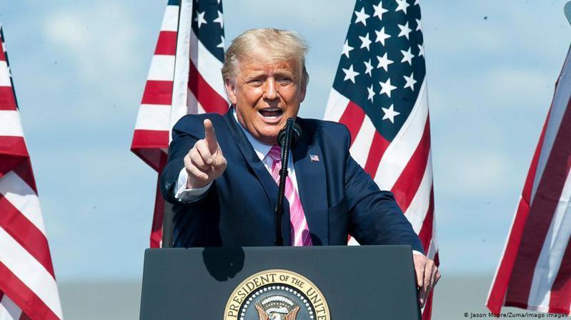 在開始選舉投票的前幾天,美國總統川普再次呼籲選舉後盡快公布選舉結果。圖/德國之聲中文網